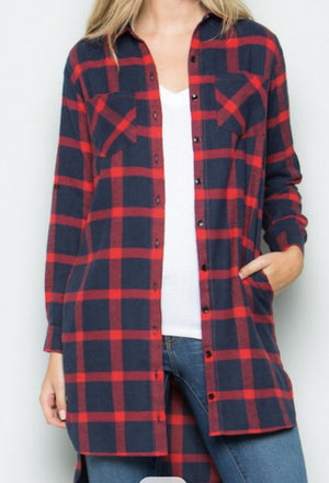 Basic Blue Plaid Shirt - Sweet Teens Shop