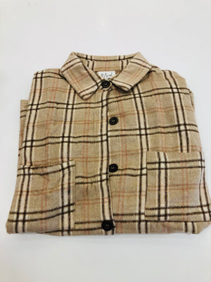 Mocha Mood Flannel Shirt - Sweet Teens Shop
