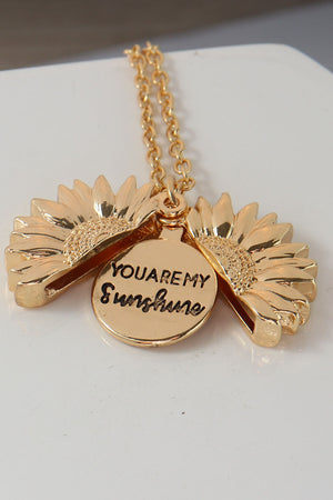 You Are My Sunshine Necklace - TrendyThredz