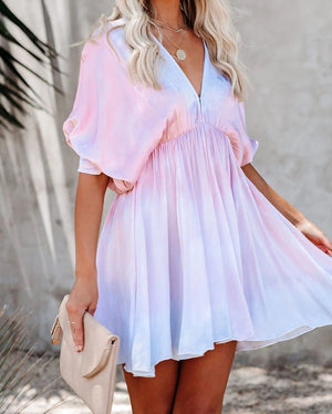 Claudia Tie Dye Babydoll Dress - Sweet Teens Shop
