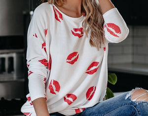 Adriane Lip Shirt - Sweet Teens Shop