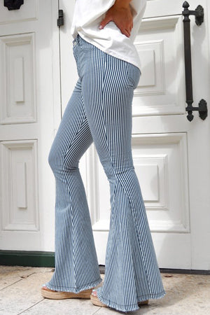 Miley High Rise Striped Jeans - Sweet Teens Shop