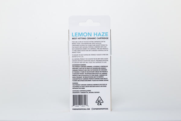 Lemon Haze Pure Syringe by Pure Vape (Sativa)