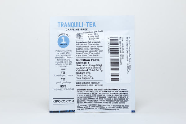 Tranquili-Tea 3mg THC / 5mg CBN (Single Serving) by Kikoko