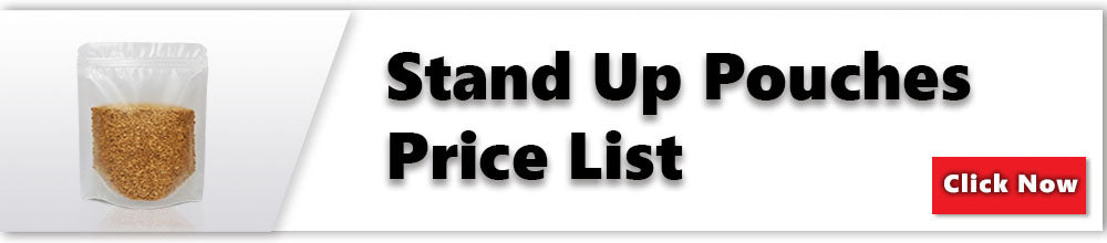 stand up pouches pricelist