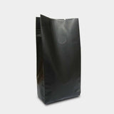 Black coffee gusset bag side seal