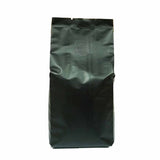 Black coffee gusset bag side seal front view