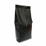Black coffee gusset bag tightly sealed