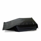 Black coffee gusset bag side seal laying flat