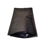 Black coffee bag stand up pouch bottom front view