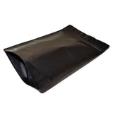 Black coffee bag stand up pouch right side profile view