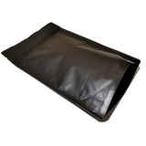 Black coffee bag stand up pouch left side profile view