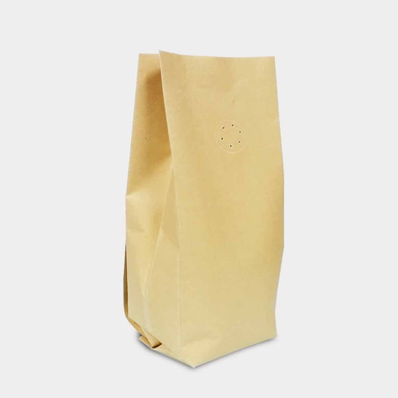 Kraft coffee gusset bag side seal