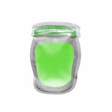 Liquid pouch jar shape plain with lemon juice