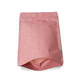 Pink stand up pouch matte bottom front view