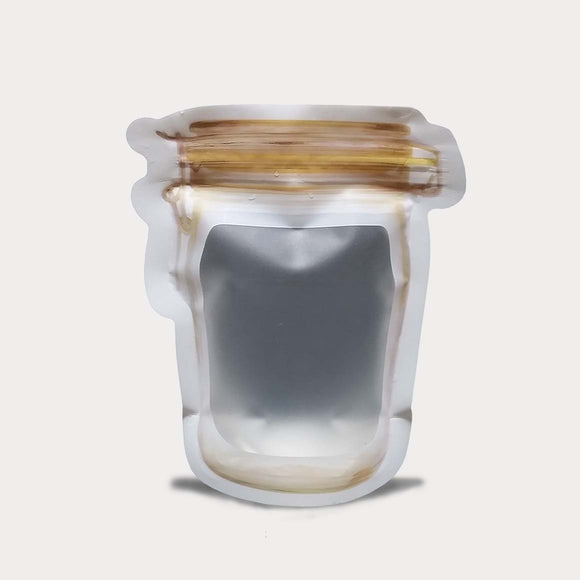 Liquid pouch jar shape hook design