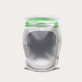 Liquid pouch jar shape plain design
