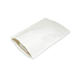 White kraft stand up pouch right side profile view