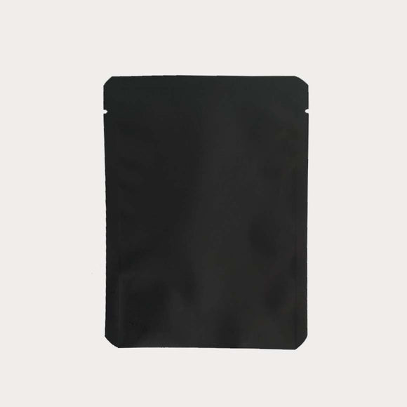 Matte black flat pouch for coffee drip or tea bags