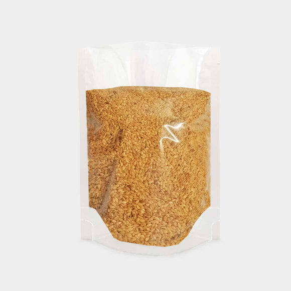 Stand up pouch transparent filled with nuts