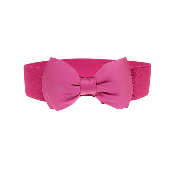 Pink Bow stretch Belt