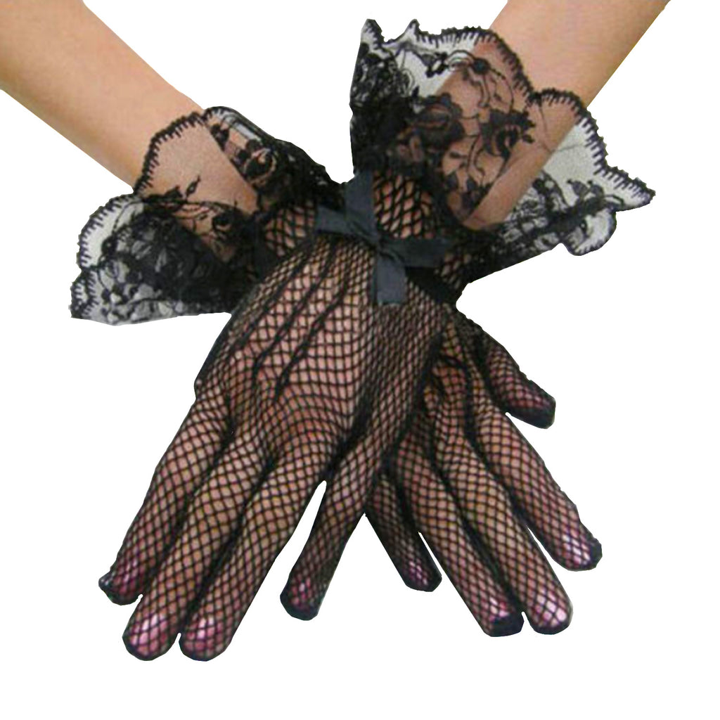 Vintage Style Lace and Fishnet Gloves