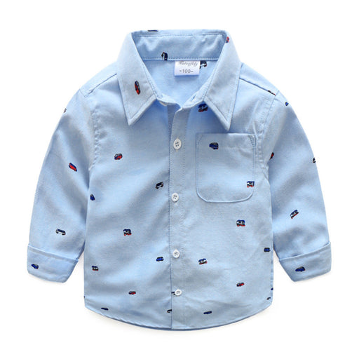 Full Sleeve Toy Bus Print Shirt for Little Boys - shopfils.com