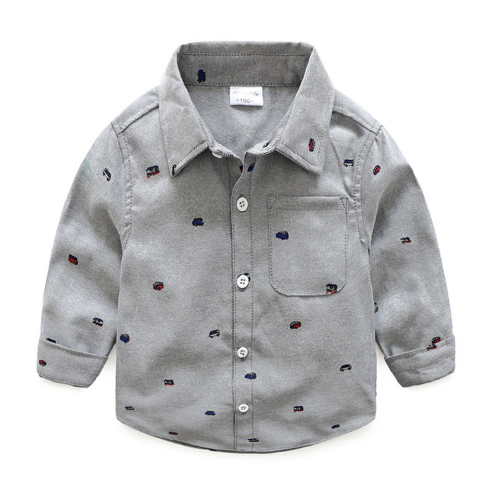 Full Sleeve Toy bus Print Shirt for Boys - shopfils.com
