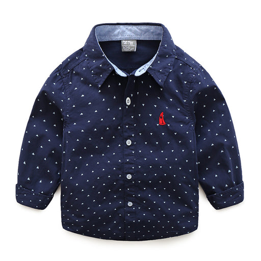 Full Sleeve Triangle Dotted Shirt for Boys - shopfils.com