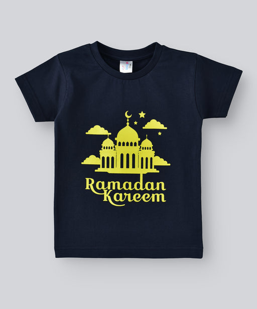Babyqlo Ramadan Kareem Tshirt for boys and girls - Navy Blue