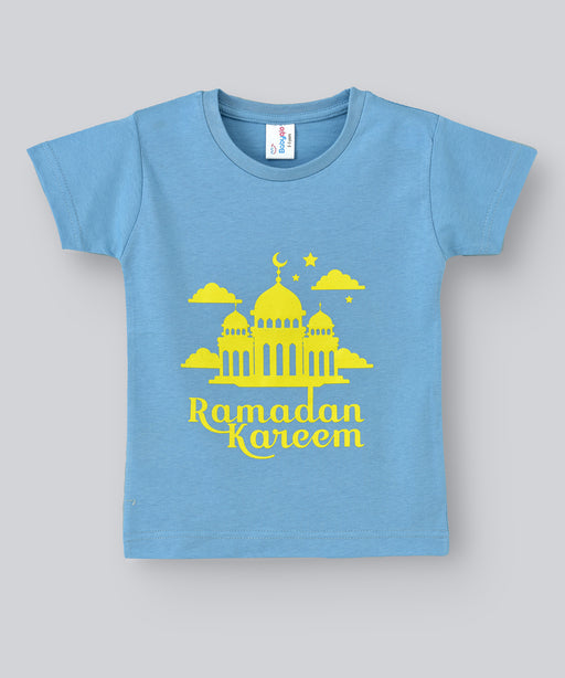 Babyqlo Ramadan Kareem Tshirt for boys and girls - Sky Blue