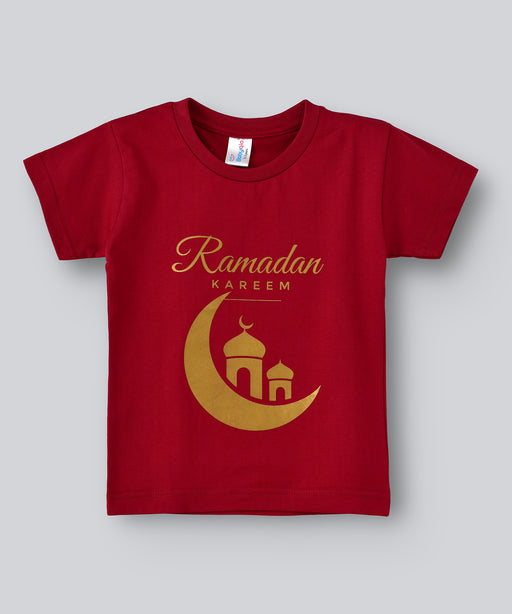 Babyqlo Ramadan Kareem Tshirt for boys and girls - Maroon