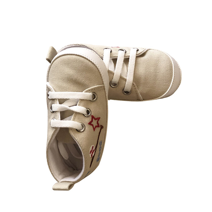 Cute Cotton Prewalker Shoes for Infants - Off White - shopfils.com