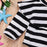 Ruffle Detail Onesie Romper for Little Girls - Stripes - shopfils.com