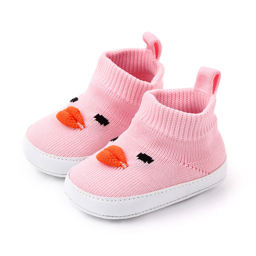 Babyqlo Cute face feature soft -top shoes - Pink