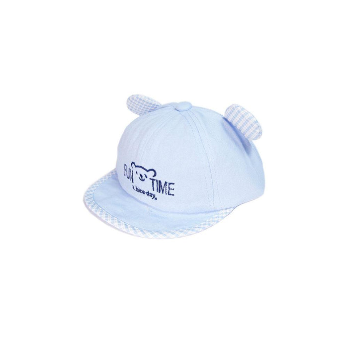 Babyqlo Fun time Bear Ear Feature Cap for Little Boys - Sky