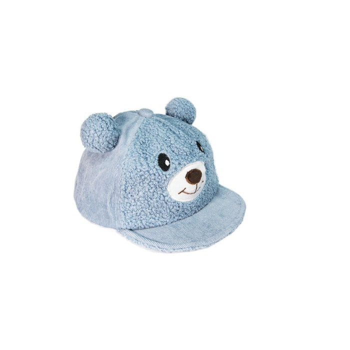 Babyqlo Bear face Feature Cap for Little Boys - Blue