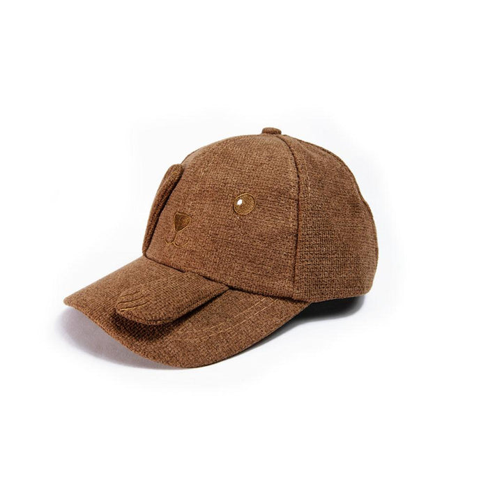 Babyqlo Peek-a-boo cap for little Boys - Brown