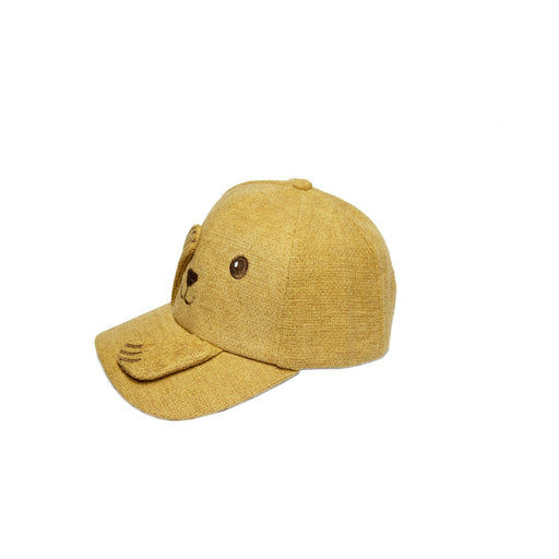 Babyqlo Peek-a-boo cap for little Boys - Yellow