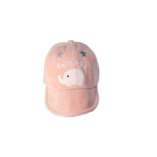 Babyqlo Elephant print cap for little Girls - Pink
