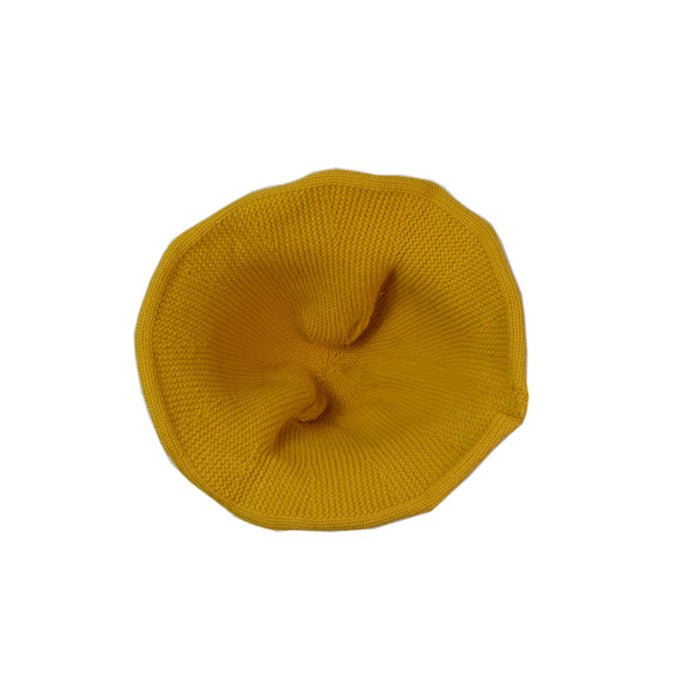 Babyqlo Sun Hat with applique detail for little girls - yellow