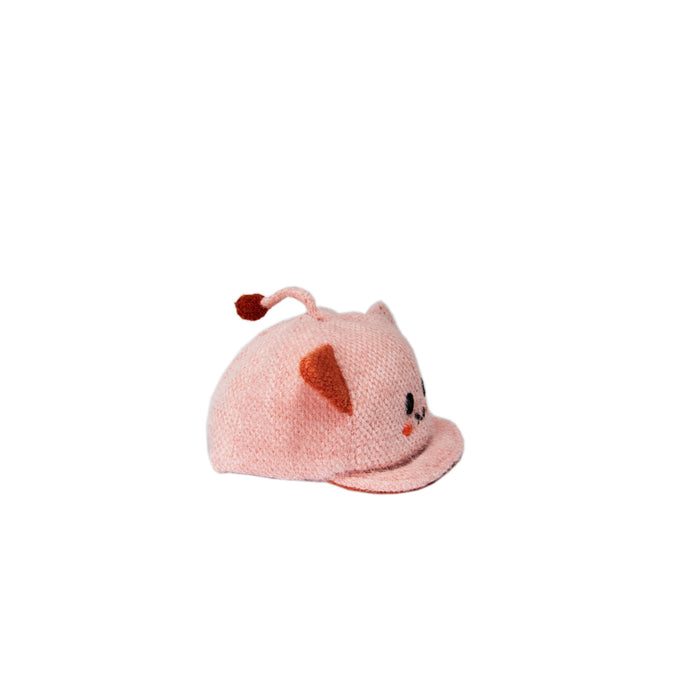 Babyqlo Cute character feature Cap for Little Girls - Pink