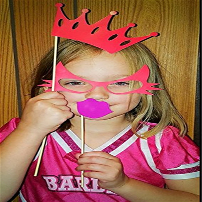 31 pcs Mustache Lip Party Mask - Photo Booth Props For Parties - shopfils.com