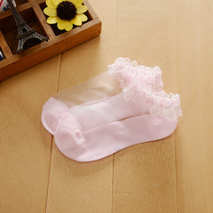 Cute Transparent Princess Socks for Little Girls