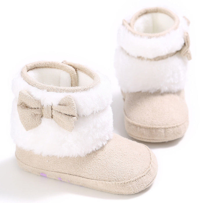 Plush Slip on Shoe with Bow for Infants - shopfils.com