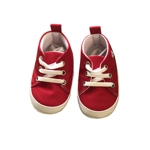 Cute Cotton Prewalker Shoes for Infants -Red