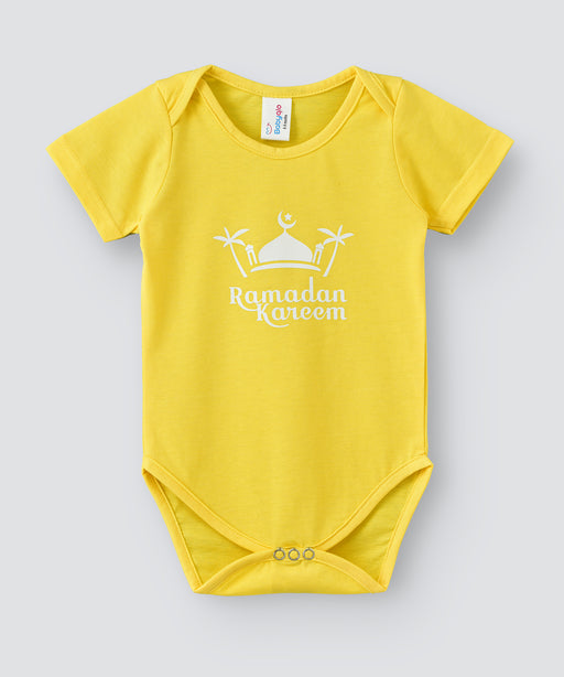 Babyqlo Ramadan Kareem bodysuit for unisex - Yellow