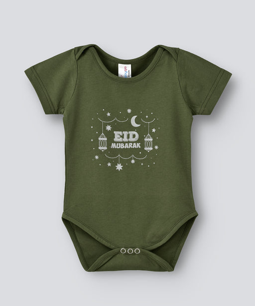 Babyqlo Eid Mubarak bodysuit for unisex - Green
