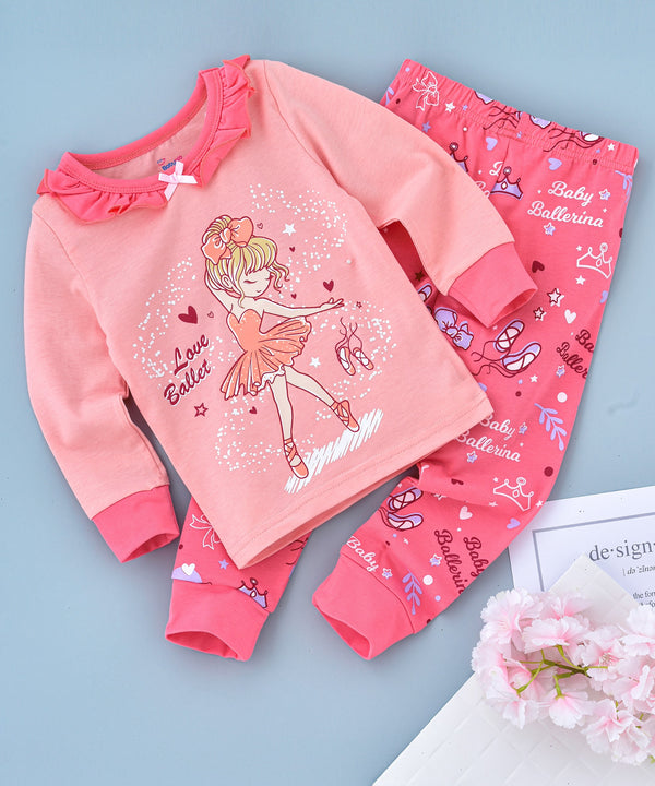 Cute Girl Printed Glow in the Dark Nightwear
