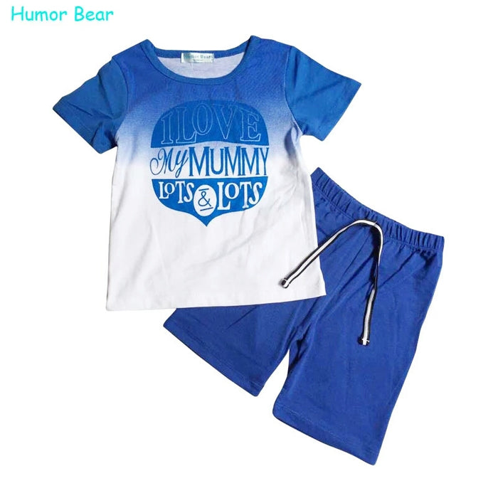 Sea Blue 2 Pcs Tee and Shorts Set - shopfils.com